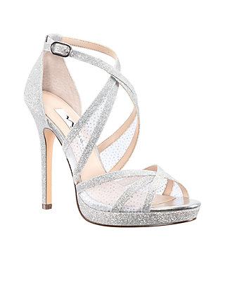 5f2632d83d4 Nina Fenna Glitter Platform Sandals
