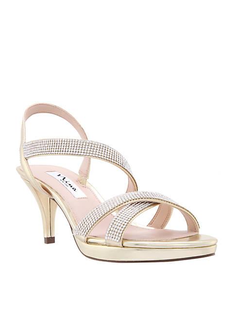 Nina Nizana Satin Strappy Sandals