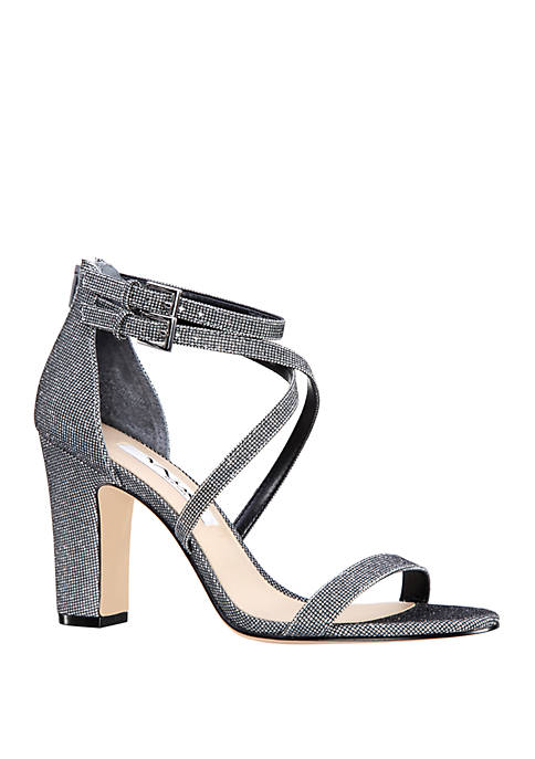 Shari Strappy Block High Heels