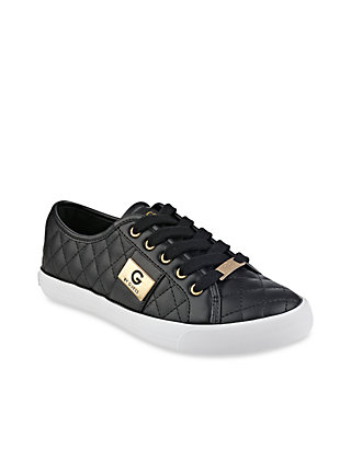 Backer Lace Up Quilted Sneaker Guess Backer Sneakers Shoes