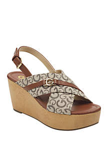 G by GUESS Dee Wedge Sandals