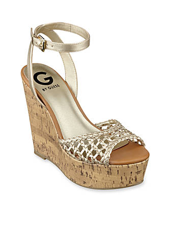 f13208f2431 G by GUESS Ethal Wedge Sandal