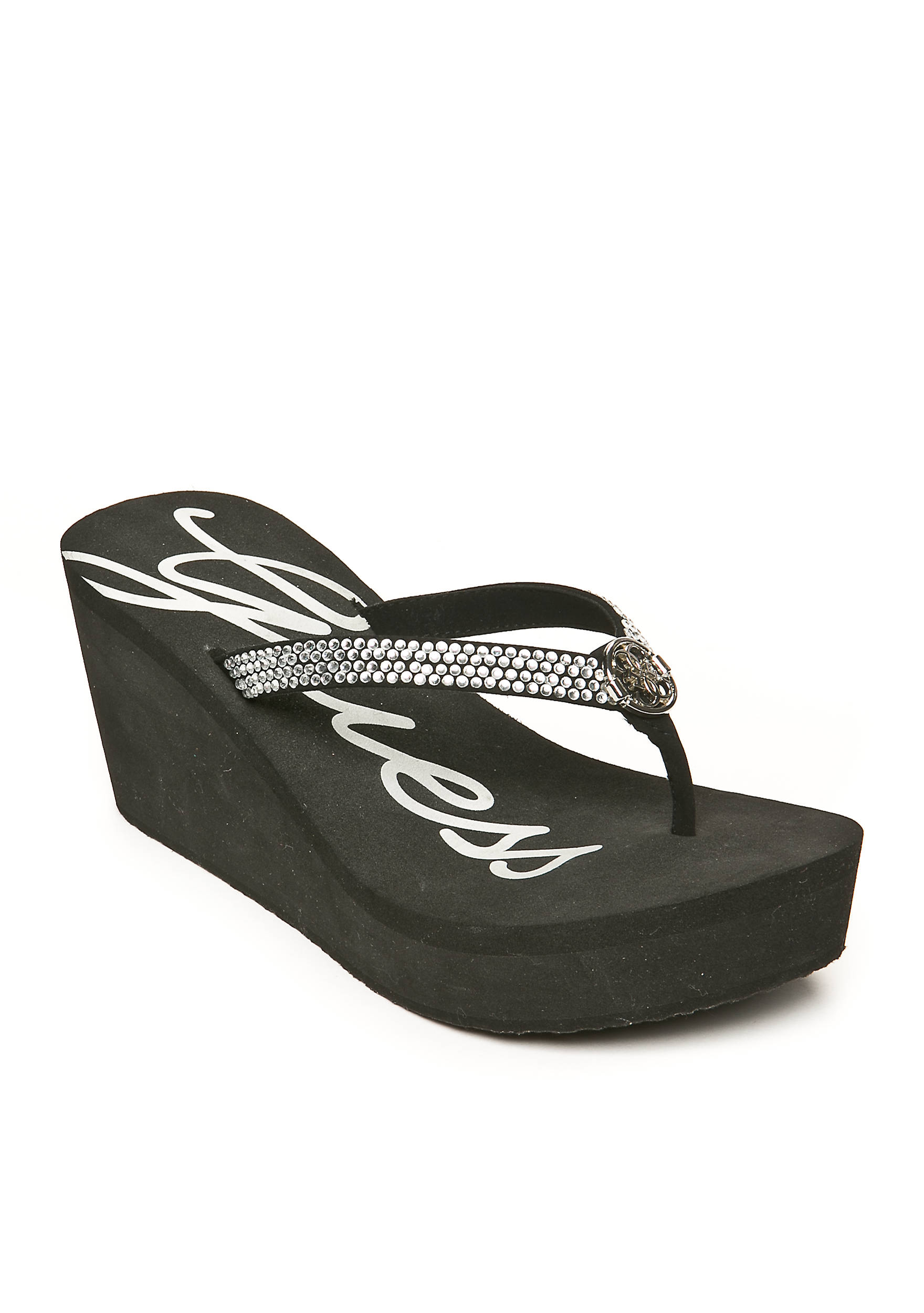 GUESS® Sechi Jewel Wedge Sandals. 2900436GWSECHI. Images