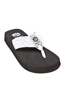 Soleil Woven Stretch Platform Sandals