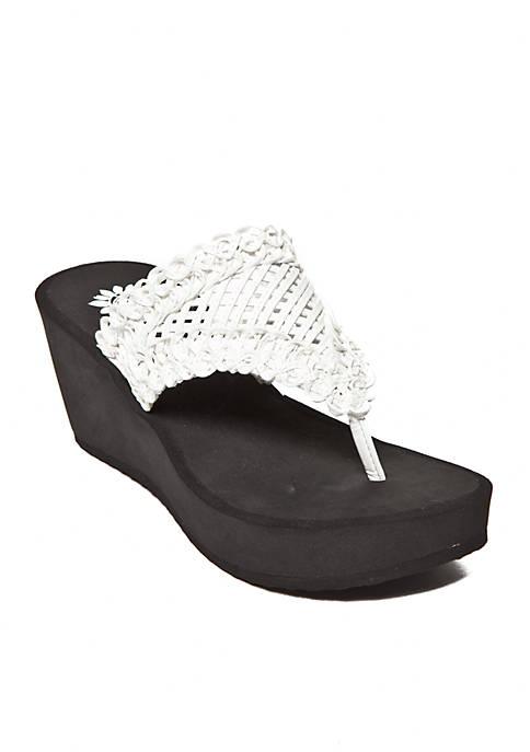 Charm High Wedge Sandals