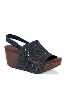 Turelle Lasercut Wedge Sandal