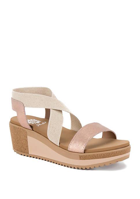Janalee Criss Cross Wedge Sandals