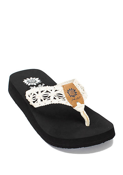 Lisabet White Thong Sandals