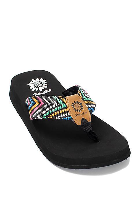 Trina Geometric Flip Flops