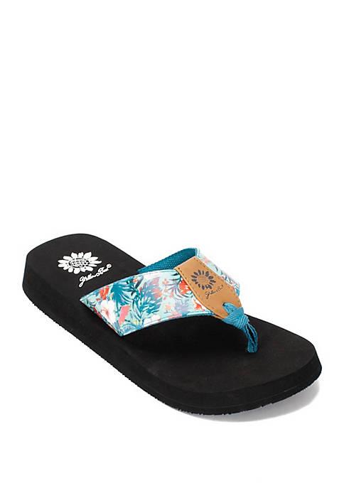Felicity Floral Flip Flops