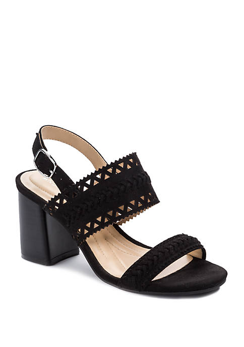 Andrew Geller® Erdana Block Heel Sandals