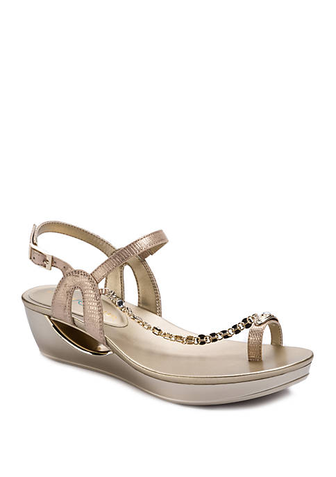 Andrew Geller® Casidy Fashion Low Wedge Sandals