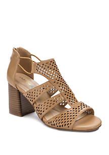 Andrew Geller® Estee Fashion Block Heel Sandals