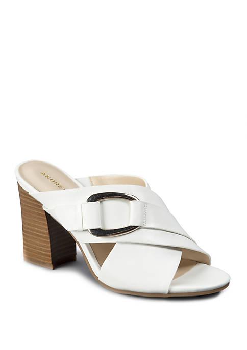 Andrew Geller® Birdie Cross Band Sandals