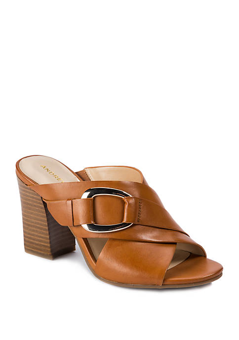 Andrew Geller® Birdie Cross Band Sandals