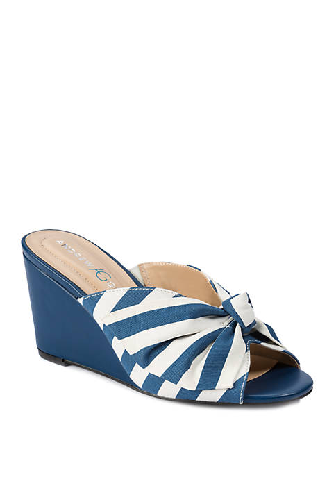 Andrew Geller® Brenna Slip On Wedge Sandals