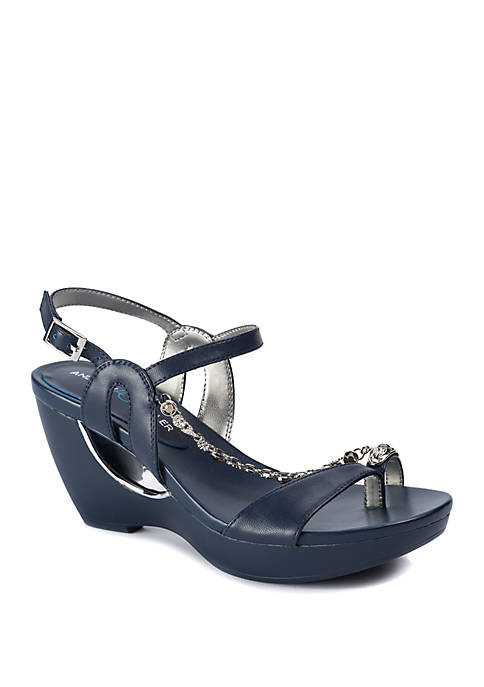 Andrew Geller® Alya Fashion Platform Sandals