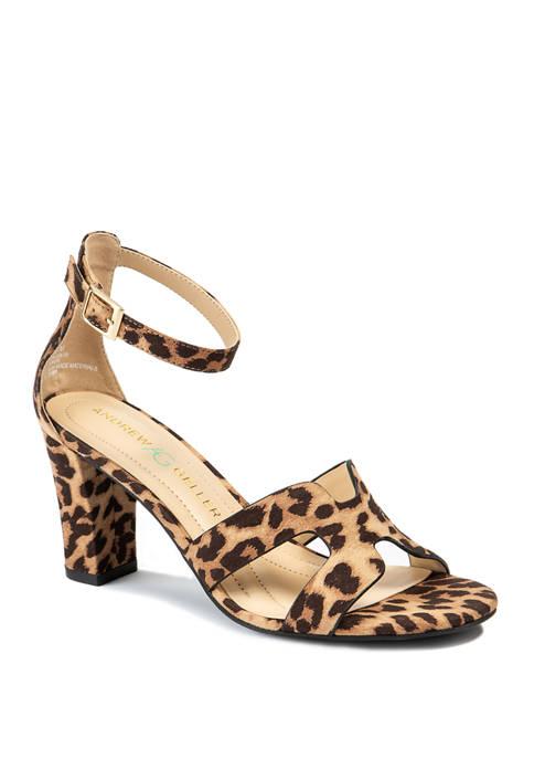 Andrew Geller® Quizzical Heeled Sandals