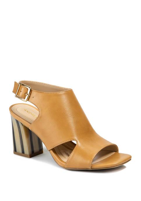 Andrew Geller® Castle Heeled Sandals