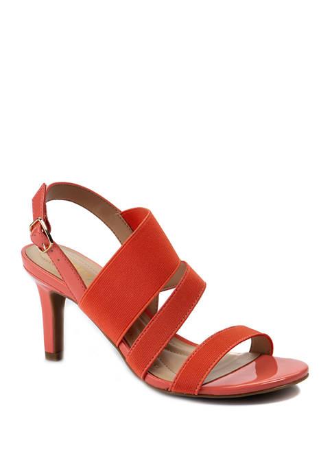 Andrew Geller® Paisley Heeled Sandals