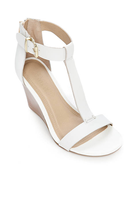 Ava Gave T-Strap Wedge Sandal
