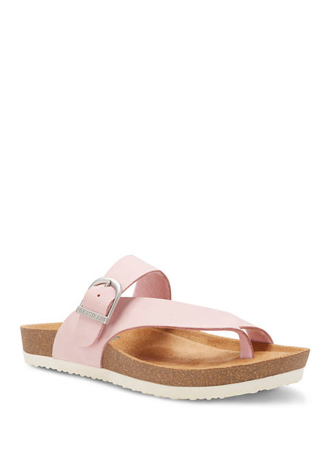 Eastland® Strap and Buckle Thong Sandals