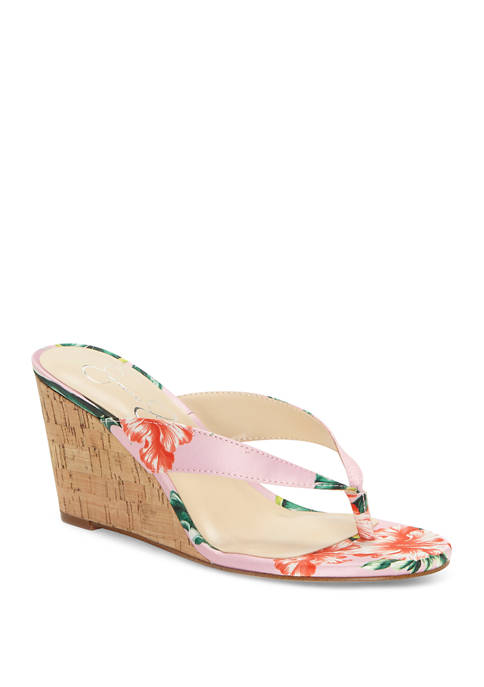 Jessica Simpson Coyrie Wedge Thong Sandals