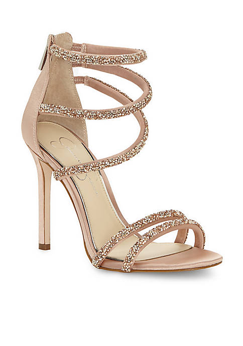 Jessica Simpson Jamalee High Heel Glitter Strappy Dress