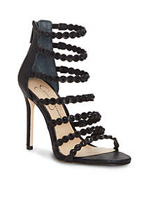 Jeweled Strappy High Heel