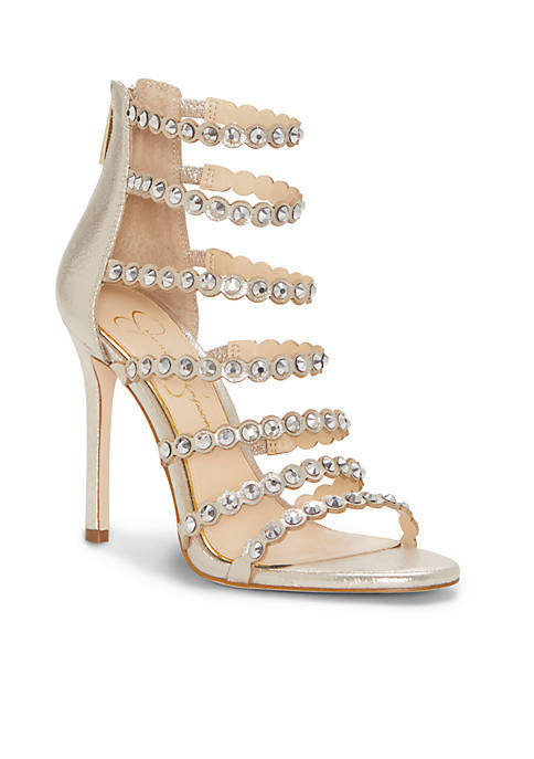 Jessica Simpson Jeweled Strappy High Heel