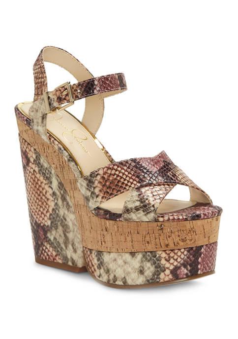 Jessica Simpson Jirie Platform Wedge Sandals