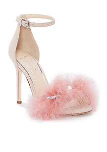 Jolinda Feathered Heels