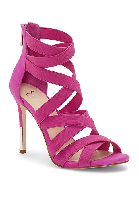 Jyra Pink Strappy Heels