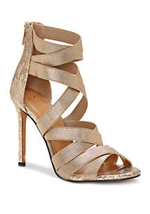 Jessica Simpson Jyra Strappy Snakeskin Heels