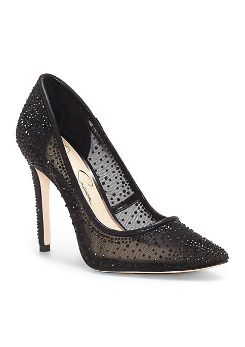 a5242c48fcf Jessica Simpson. Jessica Simpson Pointed Toe Mesh Pumps