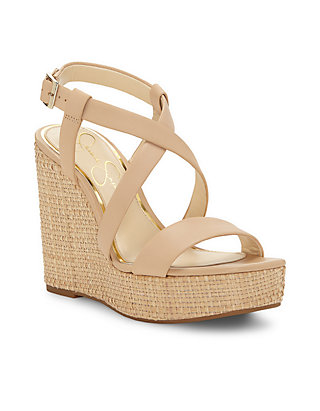 e016a388d648 Jessica Simpson. Jessica Simpson Salona Strappy Wedge Basket Weave Wedge  Sandal