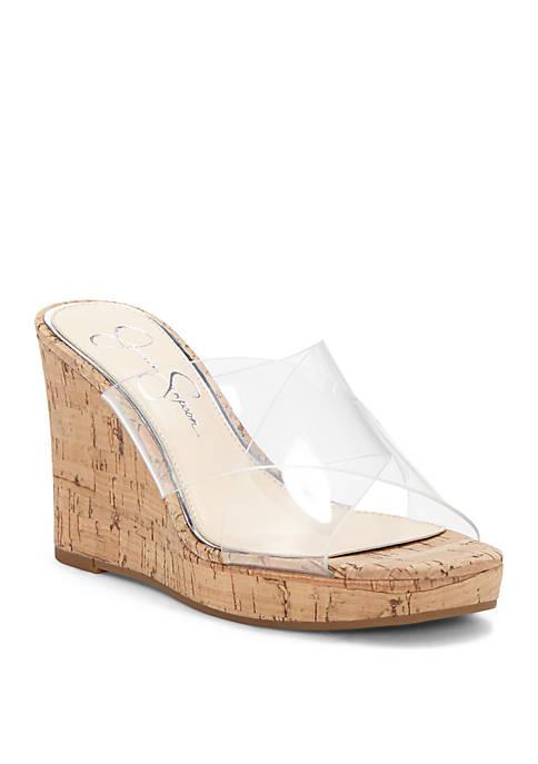 Jessica Simpson Seena Criss Cross Upper Wedge Slides