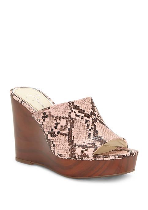 Jessica Simpson Shantelle Wedge Slide Sandals