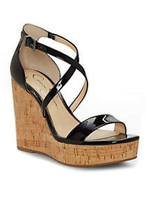 Stassi Cork Wedge Sandal