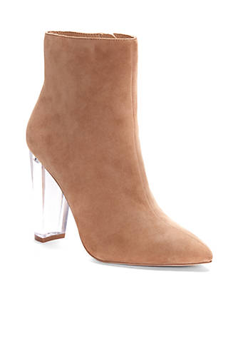 Jessica Simpson Lucite Pointed Block High Heel Bootie FUy07k