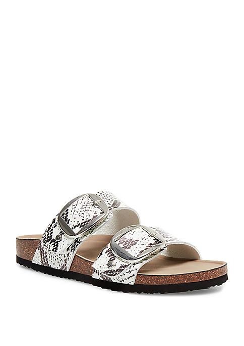 Madden Girl Brinna Snake Print Footbed Sandals