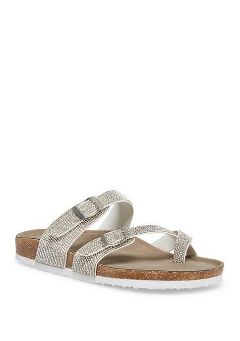 Madden Girl Toe Ring Footbed Glitter Sandals
