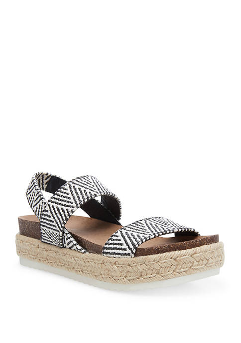Madden Girl Cybell Espadrille Flatform Sport Bottom Sandals
