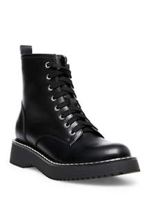 Kurt Lace Up Booties by Madden Girl