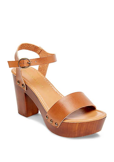 Madden Girl Lift Wood Block Heel Ankle Strap