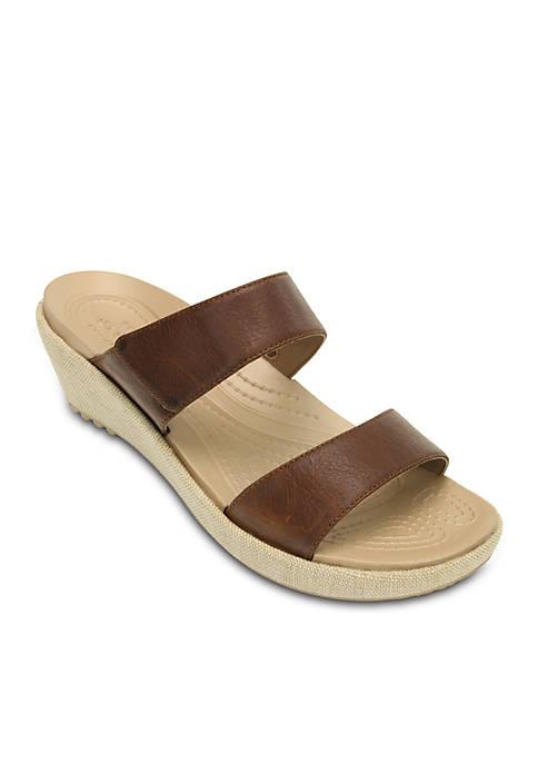 Crocs Aleigh 2 Strap Wedge Sandal