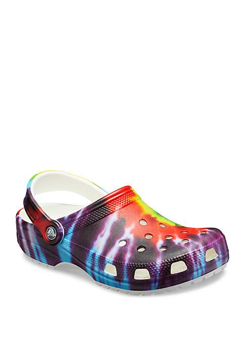 Crocs Classic Tie Dye Graphic Clogs