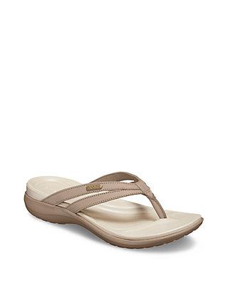 5a250252695 Crocs Capri Basic Strappy Flip Flops | belk