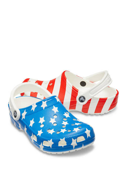 Crocs Mens Classic American Flag Clogs