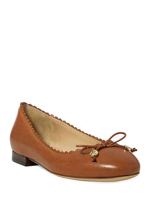 Lauren Ralph Lauren Glennie Leather Flats
